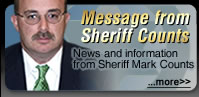Message from Sheriff Counts